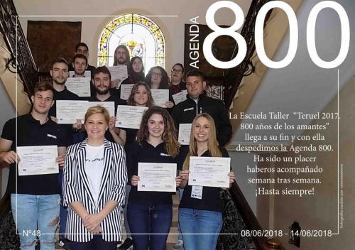 Agenda 48. Foto de todos los Alumnos de la Escuela Taller.